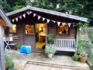 Picture of Jules' Print Shed in her garden